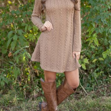 Causal Knitted Long Sleeve Dress