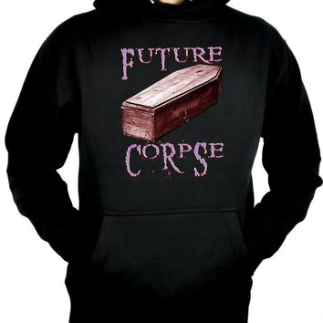 Future Corpse w/ Coffin Pullover Hoodie Sweatshirt Gothic Clothing