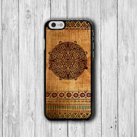Aztec Mayan Tribal Wooden iPhone 6 Cases, Seamless Pattern Art iPhone 6 Plus, Phone 5/5S, iPhone 4/4S Hard Case, Accessories Design Gift