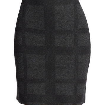 Eileen Fisher Plus Plus Merino Wool Knit Skirt