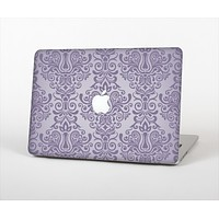 "The Light Purple Damask Floral Pattern Skin Set for the Apple MacBook Pro 13"" with Retina Display"
