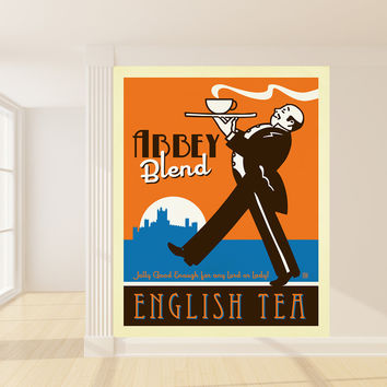 Anderson Design Group's Abbey Blend English Tea Mural wall decal