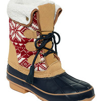 Khombu Shoes, Aztec Faux-Fur Boots - Boots - Shoes - Macy's