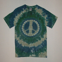 Tie Dye Peace Sign Shirt - Any Size, Style, & Color Combination Available