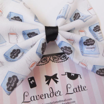 The Fault in our Stars Book Fiction and Coffee TFIOS Hair Bow Hair Clip -- John Green -- Augustus Waters -- Hazel Grace Lancaste