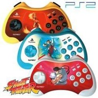 Street Fighter Anniversary Playstation 2 Controller - Blue/White
