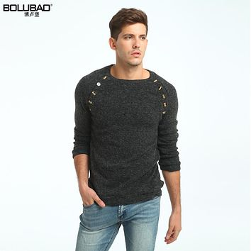Bolubao New Men Sweater Fashion Brand Clothing Cashmere Solid Color Mens Christmas Sweaters Slim Male Knitted Pullover M-3XL