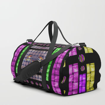 This is a cartoon circle mouse Duffle Bag by Pepita Selles