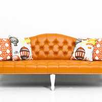 Mademoiselle Sofa in Hermes Orange