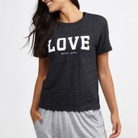 Varsity Love Gym Tee in Vintage Black by Spiritual Gangster | Tops | BANDIER