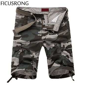 FICUSRONG Quality-guaranteed Military Camouflage/Camo Shorts Men Multicam Bermuda Military Cargo Shorts S/L/XXL/XXXL/4XL