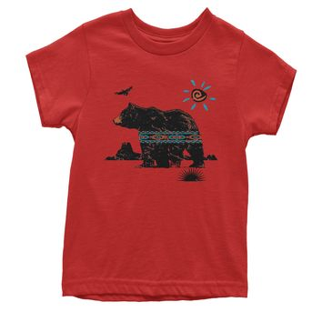 Native American Bear Southwest Youth T-shirt