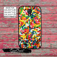 Sprinkles Colorful Rainbow Cute Custom Galaxy S5 and S4 and S3 Case and Galaxy Note 2 and Note 3 Case