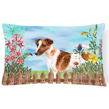Smooth Fox Terrier Spring Canvas Fabric Decorative Pillow CK1209PW1216