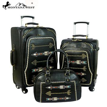 Montana West Arrow Collection 3 PC Luggage Set