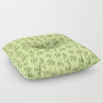 Bamboo leaf Floor Pillow by Y.B. Webb