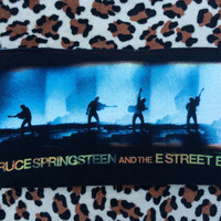 BRUCE SPRINGSTEEN - Upcycled Concert/ Band T-shirt Makeup/ Pencil Pouch - ooak