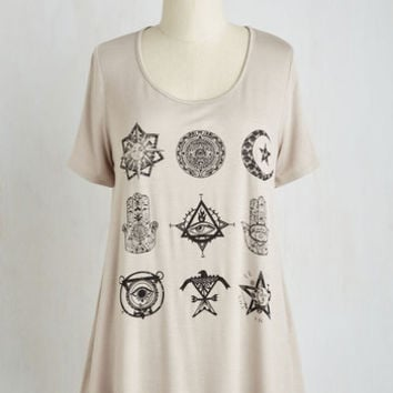 Cosmic Long Short Sleeves A-line Concertgoing Places Top