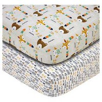 Baby Fitted Sheet NoJo Multi-colored 2 Pk : Target