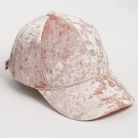 Pink Crushed Velvet Dad Hat