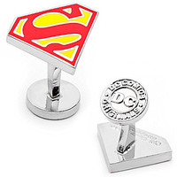 Cufflinks Inc. Superman Logo Cuff Links - Silver