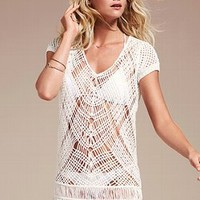 Crochet Fringe Cover-up Sweater - Victoria's Secret