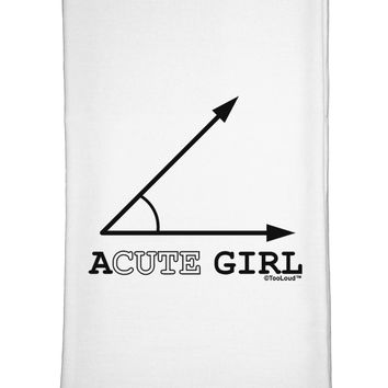 Acute Girl Flour Sack Dish Towels