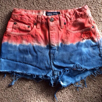 London Jean Ombré dye Shorts 27""