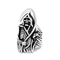 2016 Famous Fashion Jewelry Engraved Skeleton Stainless Steel Rings for Men New Hot sale Punk Rock Skull Classic Mens RingK R811