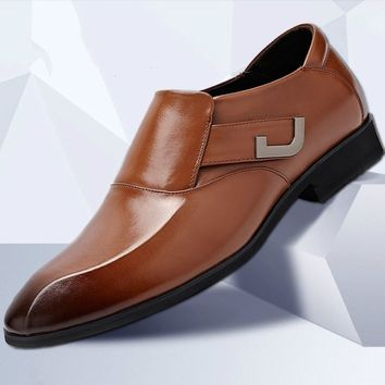 Men's Premium Genuine Leather Slip on Oxfords Shoes Business Shoes Size:38-48