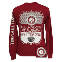 Alabama Crimson Tide Preppy Frame Logo Long Sleeve T Shirt