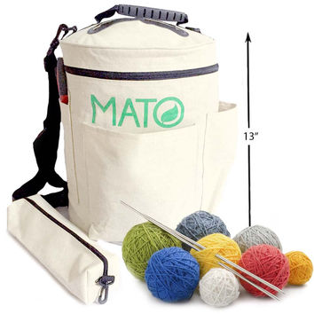 Mato Organic Canvas Yarn Storage Bin Bag Tote