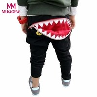 Hot Sale Children Kids Boys Zipper Shark Teeth Harem Pants Trousers Fashion Cool Kid Boy Casual Long Pants Trousers