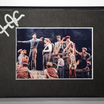 "Jeremy Jordan Signed 4X6"" Newsies Photo Matted And Framed"
