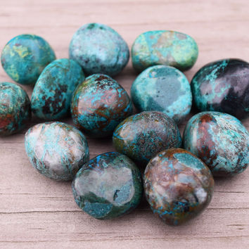 CHRYSOCOLLA Freedom of Expression Stone & Divine Femininity - Courage to Let Go of Fear & Speak Your Truth - Clears Throat Chakra