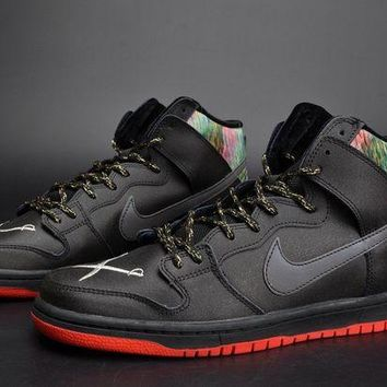 PEAPONVX Jacklish Spot X Nike Sb Dunk High Gasparilla Black/challenge Red-metallic Silver For Sale