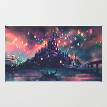 The Lights Area & Throw Rug by Alice X. Zhang