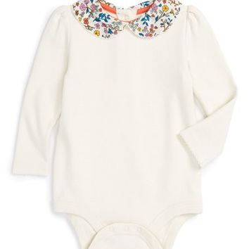 Mini Boden Peter Pan Collar Bodysuit (Baby Girls & Toddler Girls) | Nordstrom
