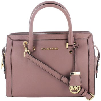Michael Kors Collins Women's Leather Medium Satchel Handbag