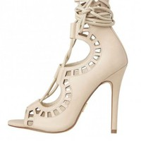 Gillie Heels Bone - Heels - Shoes