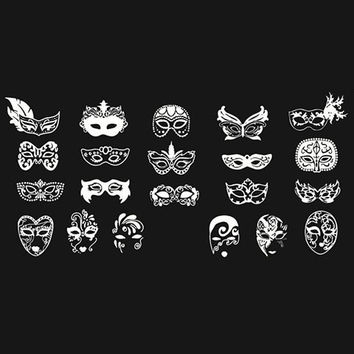 One Piece Various Mask Patterns Nail Art Print Template
