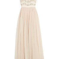 Needle & Thread - Sequin-embellished crepe and tulle gown