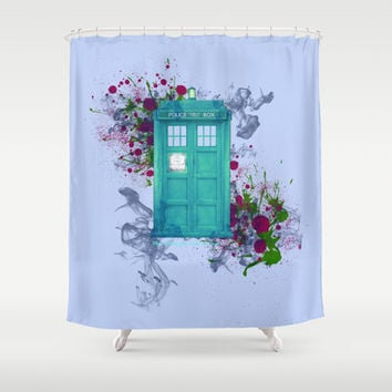 Doctor Who Shower Curtain by Laain Studios
