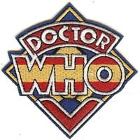 Doctor Who Iron-On Patch Letters Logo