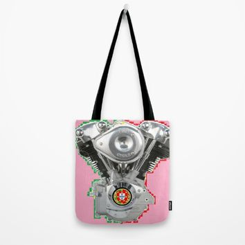Portuguese Hot Pink Knuckles. Tote Bag by Tony Silveira
