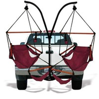 Trailer Hitch Stand and 2 Burgundy Hammaka Chairs Combo - WD