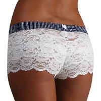 FOXERS - White Lace Boxer Short
