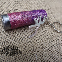 glitter shotgun keychain, pink shotgun accessories, camo keychain, hunting keychain, gun keychain, girls with guns, deer head keychain,