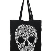 Skull Canvas Tote Bag - Spirithalloween.com