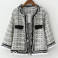 Half Sleeve Beaded Coat